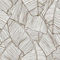 Vector illustration leaves of palm tree. Seamless pattern. Royalty Free Stock Vector Art Illustration: