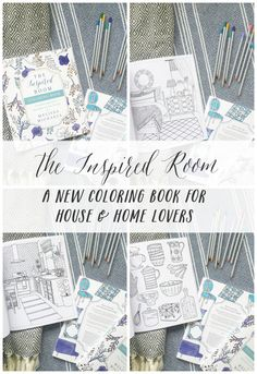 The Inspired Room - A New Coloring Book for House and Home Lovers - Home Decorating Adult Coloring Book