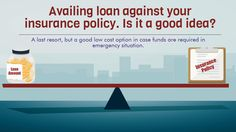 Loan against insurance policies is a good option in case funds are required in an emergency situation and can be a better alternative to a personal loan or a credit card loan or asking friends/relatives for financial help.