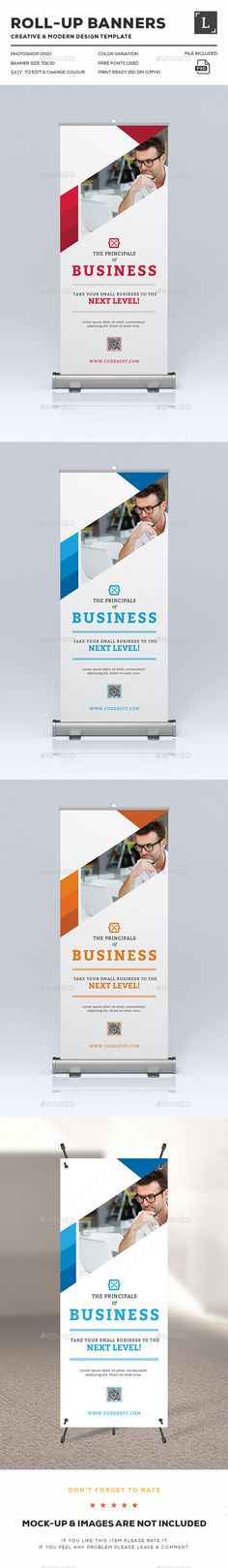 Corporate Roll-Up Banners Template PSD. Download here: http://graphicriver.net/item/corporate-rollup-banners/15927149?ref=ksioks