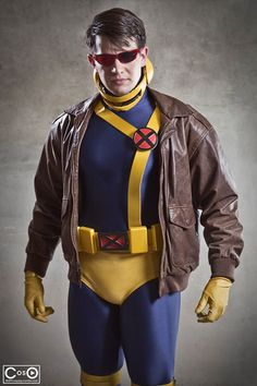 Cyclops, cosplayed by Michael Cox, photographed by Andrew Michael Phillips - costume with glasses