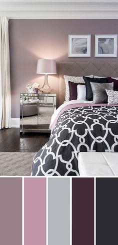 We help you pick an excellent bedroom color plan so you can make a perfect bedroom resort with colors that reflect your style. Popular Bedroom Paint Colors that Give You Positive Vibes Get the appearance is lovely! Home Decor Bedroom, Living Room Decor, Design Bedroom, Diy Bedroom, Decor Room, Wall Decor, Kids Bedroom Paint, Silver Bedroom Decor, Bedroom Wall Designs