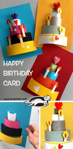 41 Ideas for party birthday diy activities Bday Cards, Funny Birthday Cards, Happy Birthday Card Diy, Birthday Cards For Kids, Creative Birthday Cards, Birthday Quotes, Birthday Presents, Birthday Parties, Diy For Kids