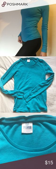 VS Pink Long Sleeve Thermal in Blue In great condition. Super comfy PINK Victoria's Secret Tops Tees - Long Sleeve