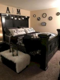 70 What No One Tells You About Black Master Bedroom Furniture Decorating Ideas 116 Black Master Bedroom, Master Room, Master Suite, Black Bedroom Furniture, Home Decor Bedroom, Living Room Decor, Log Furniture, Black Bedroom Decor, Bedroom Neutral