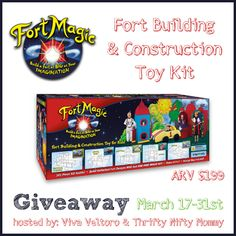 ENTER TO WIN – Fort Magic fort building kit –  valued at $199