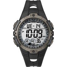 Un watch noir est fait par marathon. Au avoir le heur, minute, et le seconde. Au avoir le mois, jour, et la annee.
