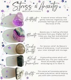 Stress and Anxiety Crystal Set — Rocks with Sass Chakra Crystals, Crystals And Gemstones, Stones And Crystals, Types Of Crystals, Crystal Guide, Crystal Magic, Crystal Gifts, Amethyst Crystal, Third Eye