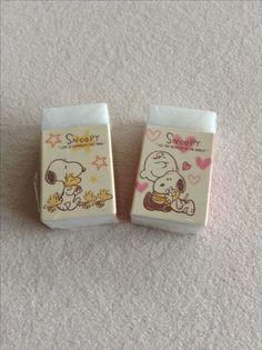 Snoopy Radiergummi mit Woddstock und Charlie Brown