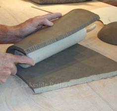 Hand Built Pottery Ideas | How to Make a Clay Slab Tall Vase? Clay Vase Handbuilt Construction ...