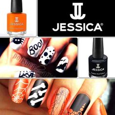 Bewitching nail art using Jessica's Custom Colours.