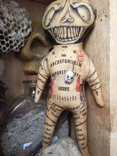OOAK Grungy Primitive Skeleton Voodoo Doll With Halloween