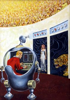 vitazur:   Ed Emshwiller -Arena of Decisions. Cover forAmazing, March 1964.