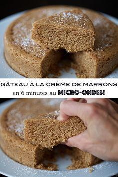 Chestnut cream cake in 6 minutes in the microwave - Lyle Norgan Dessert Sans Four, Dessert Micro Onde, Cheesecakes, Cheesecake Recipes, Dessert Recipes, Chestnut Cream, Cream Cake, Sin Gluten, Food To Make