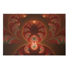 Luminous abstract modern orange red Fractal Faux Canvas Print - modern gifts cyo gift ideas personalize
