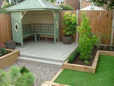 Small Backyard Design, Backyard Garden Design, Small Patio, Patio Design, Backyard Patio, Backyard Landscaping, Landscaping Ideas, Backyard Ideas, Small Garden Fence