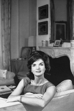 "Jackie Kennedy, looking stunningly regal in this portrait. Now I understand why royalty can be styled ""Her Serene Highness..."""