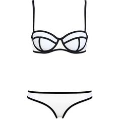 MILLY INDIANA ICE ($89) ❤ liked on Polyvore featuring swimwear, bikinis, swimsuits, bathing suits, swim, underwire bikini, white bikini swimsuit, white bikini, swimsuits two piece and tankini swimsuit tops