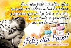 Frases dia del padre 2019 originales | El Banco de IMAGENES GRATIS Message For Father, Messages, Facebook, Places, Happy New Year 2016, Happy Fathers Day Images, Text Conversations, Lugares