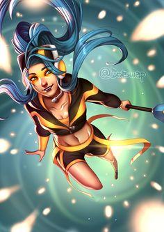 Fnatic Janna by Dotswap.deviantart.com on @DeviantArt - More Fanart at https://pinterest.com/supergirlsart/ League of Legends #leagueflegends #lol #team #fnatic #fanart #janna