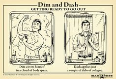 Dim and Dash Getting ready to go out Dim covers himself in a cloud of body spray. Dash applies just a couple of dabs of cologne. Art Of Manliness, Man Up, Us Man, Lifehacks, Going To Work, Going Out, Macho Alfa, Etiquette And Manners, Gentleman Style