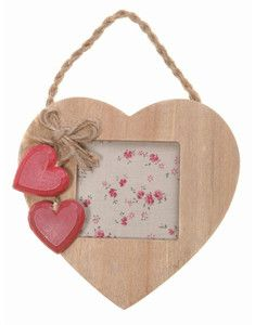 beige and red heart photo frame