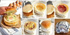 No Washing Up Ham Egg & Cheese Bread Bowls
