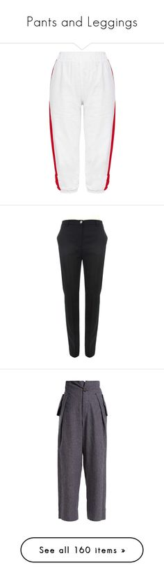 """Pants and Leggings"" by renecathl ❤ liked on Polyvore featuring pants, capris, cropped pants, cropped cargo pants, white crop pants, petite crop pants, white trousers, evening pants, tuxedo pants and wool trousers"
