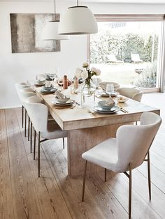 Dining Room Table Decor, Dining Table Design, Esstisch Design, Dinner Room, Dining Room Inspiration, Home Room Design, Luxury Home Decor, Küchen Design, Home Decor Kitchen