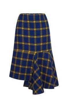 Wool Tweed Tartan Skirt by Marni for Preorder on Moda Operandi