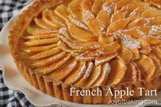Apple tart with apricot glaze...One of Craig's favorite desserts. The crust is to die for.