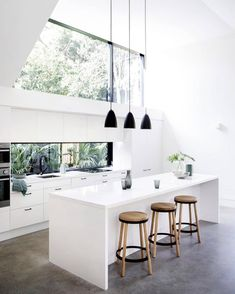 Minimal yet Elegant Kitchen Design Ideas - The Architects Diary - - Minimal Kitchen Design Inspiration is a part of our furniture design inspiration series. Minimal Kitchen design inspirational series is a weekly showcase. Design Scandinavian, Scandinavian Lighting, Scandinavian Kitchen, Elegant Kitchens, Beautiful Kitchens, Cool Kitchens, Galley Kitchens, Minimal Kitchen Design, Minimalist Kitchen