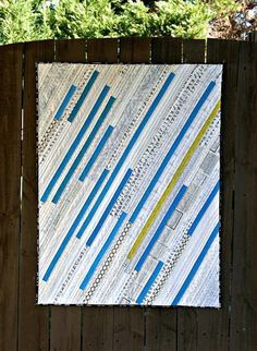 Modern Quilt with irregular stripes, maybe from a Jelly Roll