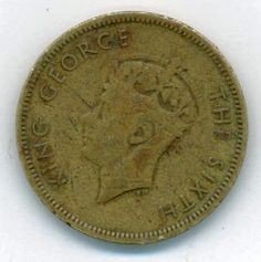 1950 10 Cent Hong Kong King George VI Coin, Currency