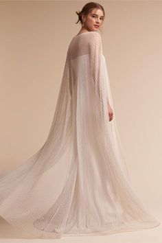 BHLDN Gina Gown & Paragon Cape in Bride | BHLDN