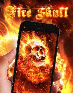 Cool Fire Skull Live Wallpaper