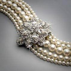 pearl and diamond bracelet...