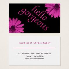 #makeupartist #businesscards - #Beauty Salon Appointment Daisy | Hello Gorgeous Business Card