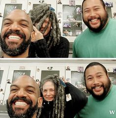 """reedusmcbridedaily: """"Khary Payton, Melissa McBride and Cooper Andrews 