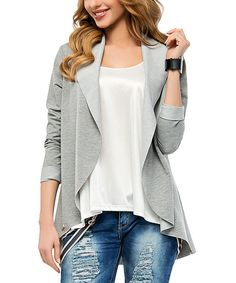 Look what I found on #zulily! Makadamia Gray Melange Open Blazer by Makadamia #zulilyfinds