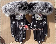 Hello Kitty Crsytal gloves to top off your Hello Kitty outfit! On Etsy $99