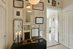 Wall of mirrors. Love this!