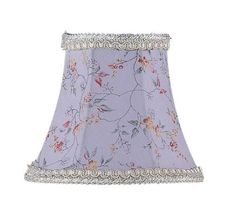 Chandelier Shade Sky Blue Bell Clip Shade (S274). Sky Blue Bell Clip Shade - Chandelier Shade - 3 T x 5 B x 4.5 S. Product Specifications Collection Name andnbsp Chandelier Shade Prduct Features andnbsp Sky Blue Floral Print Bell Clip Shade with Fancy Trim Dimensions andnbs.. . See More Lighting Shades at http://www.ourgreatshop.com/Lighting-Shades-C1006.aspx