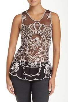 Crochet Mesh Blouse by Simply Irresistible on @HauteLook