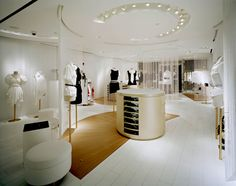 The interior of the Anne Fontaine New York boutique, designed by Andrée Putman.