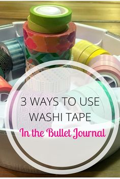 """One of the top questions I see new bullet journalers ask is, """"What the heck do I use washi tape for?!"""" Before I dive in let me just say, you don't have to use washi tape! Just like I said in myDIY Bullet Journalpost, your bullet journal is YOUR journal. It can be the Pablo Picasso of journals or it can just be plain jane,"""