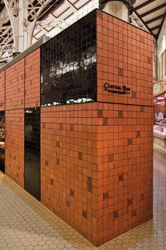 Central Bar - Francesc Rifé Studio - Valencia Valencia, Central Bar, Restaurant Interior Design, Restaurant Bar, Garage Doors, Outdoor Decor, Restaurants, Commercial, Studio