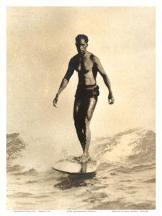 Hawaiian Surfer Duke Kahanamoku Art Print