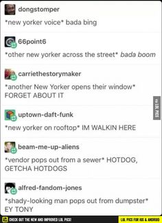 IS THIS WHAT PPL THINK OF NEW YORKERS BC IF U DO u r right my friend we're a mess