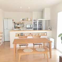 Japanese kitchen backsplash graceful kitchen style with subway tile and white also glass door cabinets for apartment kitchen ideas nz Apartment Kitchen, Home Decor Kitchen, Kitchen Interior, Home Kitchens, Kitchen Ideas, Home Room Design, Dream Home Design, Home Interior Design, House Design